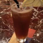 Long Island recommended by the bartender Leon. Tastes light but packs a punch.