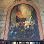 Mural above Vintage Bar