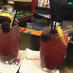 Fun blackberry splash drinks!