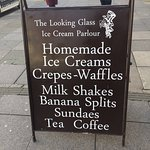 Buy ANY waffle or crepe and get the second one half..... I don't think so. Very untrue and misle