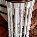 Spindles and volute at left side bottom of first floor main stairway (so COOL!!)