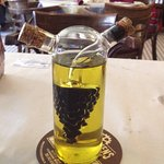 Oil and balsamic vinegar to start your meal