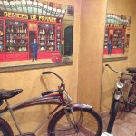 A bicycle in the Ladies washroom!!