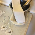 A nice bottle of Prosecco in our room on arrival