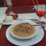 African peanut and chicken soup.