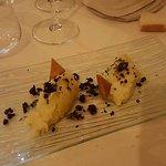 Il brandacujun con olive taggiasche disidratate ( dallo chef ) ottimo !!!!