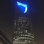 Night time at the Kingdom Centre Tower