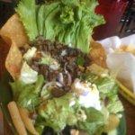 Fajita beef taco salad