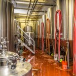 Our production facility, right behind the red door in our tasting room.