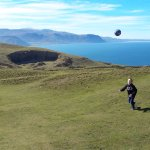 The Llandudno tramway and views at the summit of The Great Orme