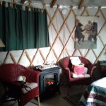 Yurts rooms are very spacious and cozy..Loved It!