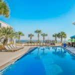 Pool at the Oceanfront Litchfield Inn directly adjacent to Pawleys Island beaches.