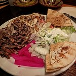 Mixed chicken and lamb shawarma