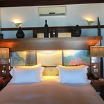 Bed inside of Beach Bungalow