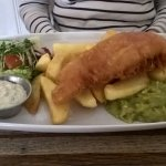 This is the 'small' battered haddock and chunky chips. More than enough for my wife to eat.