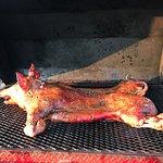 Amazing Pig Roast on the beach!