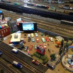 A drive in for a model train