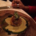 Cannelloni de Cangrejo con Maiz Dulce a la plancha y Zucchini Confitado