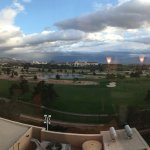 Golf course panoramic view