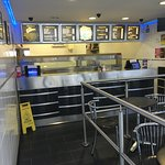 Inside the chippy