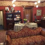 The parlor set with afternoon tea