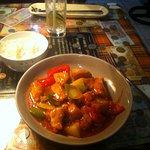 Sweet & sour chicken dinner