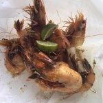 fried, no batter, fresh shrimp: yummy!