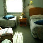 One of our twin rooms with two single beds.