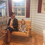 Swinging with grandma!