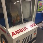 Driving the ambulance~