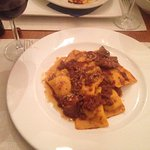 A wild boar with homemade ravioli - the aroma was amazing and the taste even better!