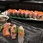 I had already eaten some of my chef's special before I took this photo of the Ventana roll
