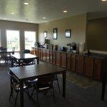 Enjoy a delicious complimentary breakfast with a breathtaking view overlooking the horse pasture