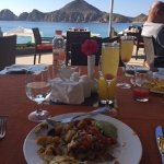 Mimosa's and breakfast at the Blanco Rose resort next door.