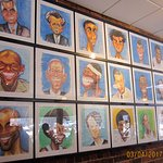 Caricatures as wall decor