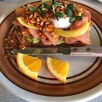 Smoked salmon on avocado toast with poached egg