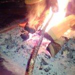 Cociendo una salchicha al modo lapón