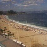 Rooftop pool view of Copacabana beach!