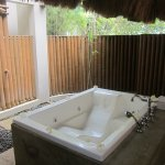 Outdoor bathroom area.