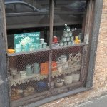 Close up of the shop window