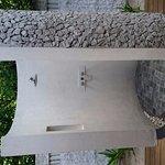 Outdoor shower in villa