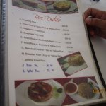 The Menu for Rice Dishes