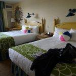 Room with 2 queen beds.