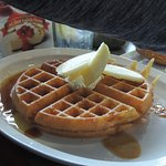 Waffle with yummy syrup