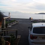 A beautiful view of Lake Taupo from the front of our room