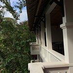 Shared balcony at room entrance