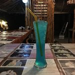 The world-famous mysterious blue drink...
