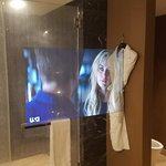 TV inside bathroom mirror