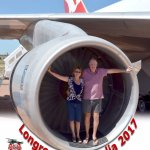 How many people have stood in the jet engine of a Jumbo jet. We did It was attached to the 747.