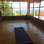 The view from the small yoga hall